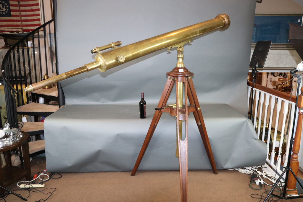 Giant French Telescope on Geared Tripod Base