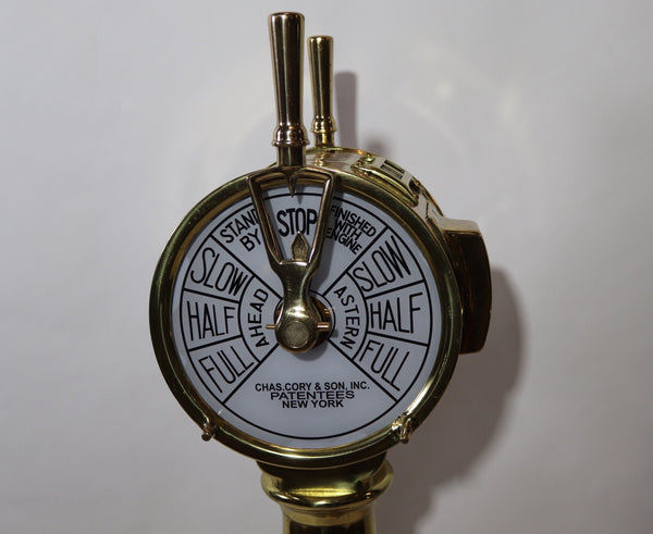 Solid Brass Ships Engine Order Telegraph
