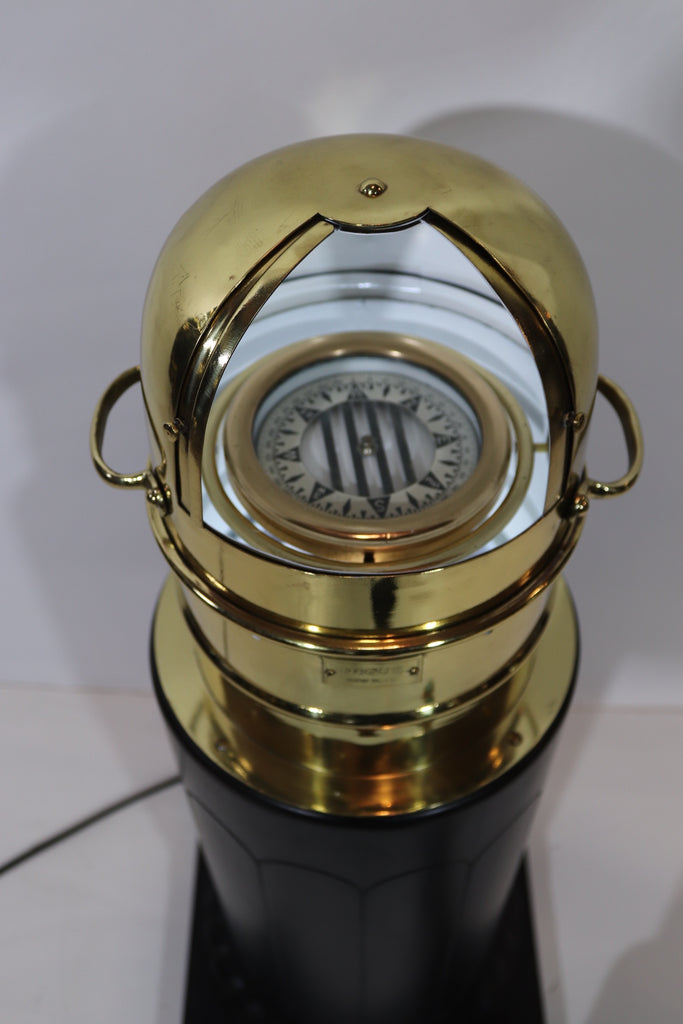 Brass Yacht Binnacle by Negus of New York