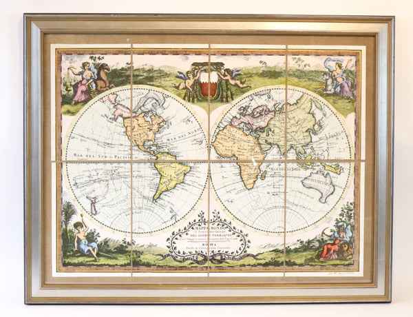 Hand Colored Map of the World
