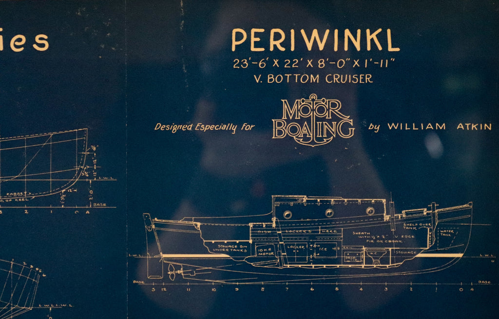 "Nautical Bluepring of ""Periwinkl"""