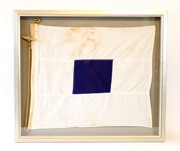 "Cotton Signal Flag in Frame | ""S"" 