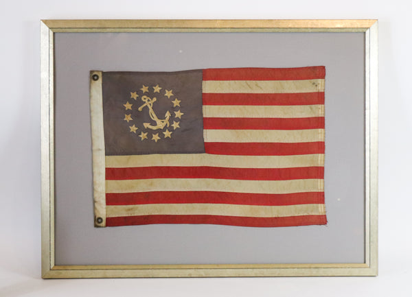 Framed Yacht Ensign