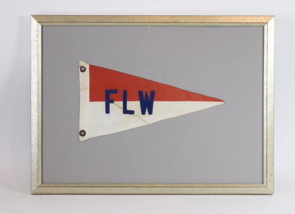 "Framed Nautical Burgee ""FLW"""