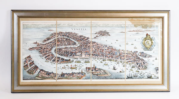 Hand colored Lithograph of Venice