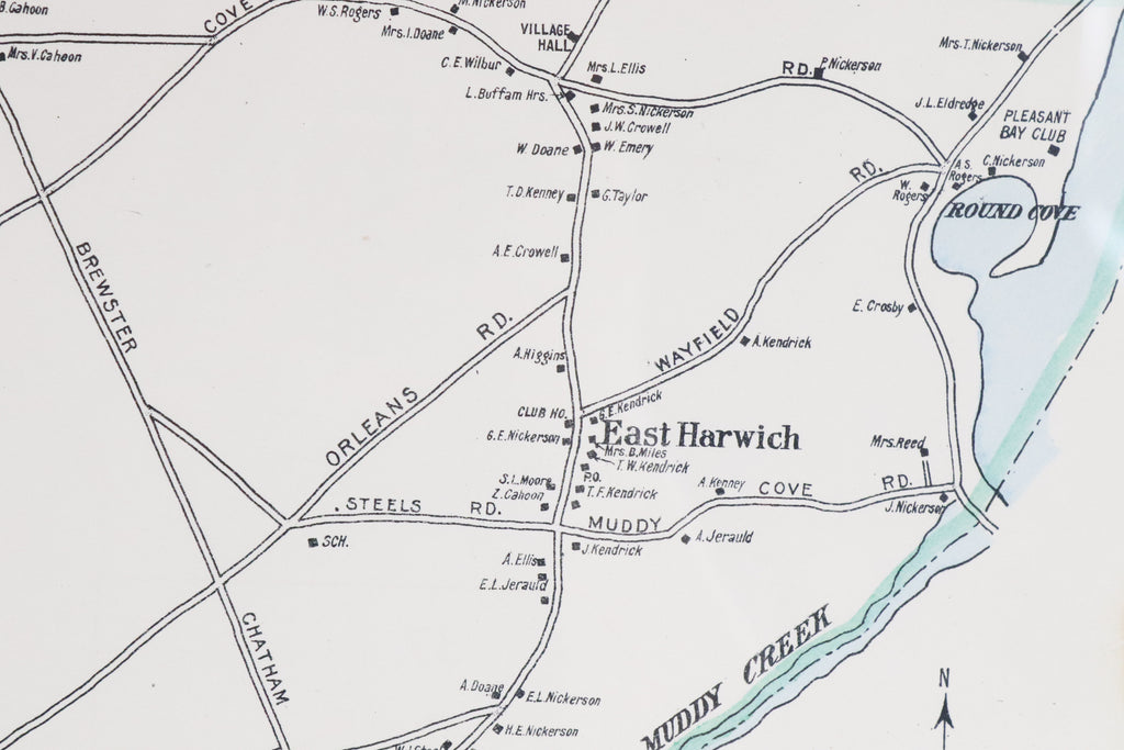 Map of Harwich, Massachusetts