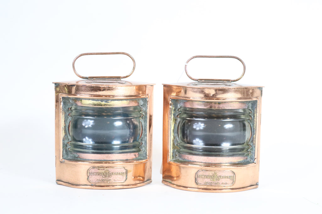 Authentic Port and Starboard Lanterns