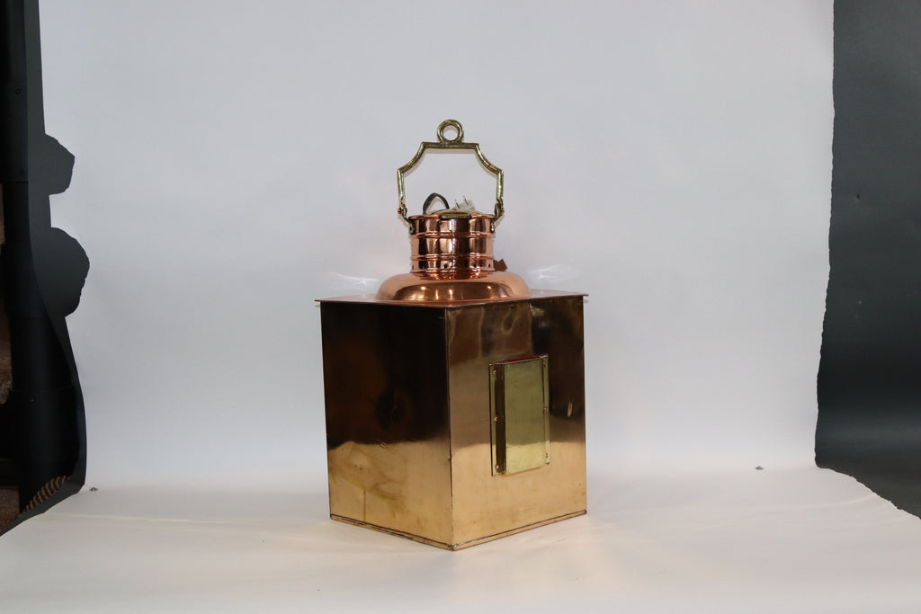 Solid Brass Ships Port Lantern