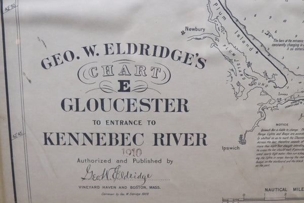 Original 1910 George Eldridge Chart