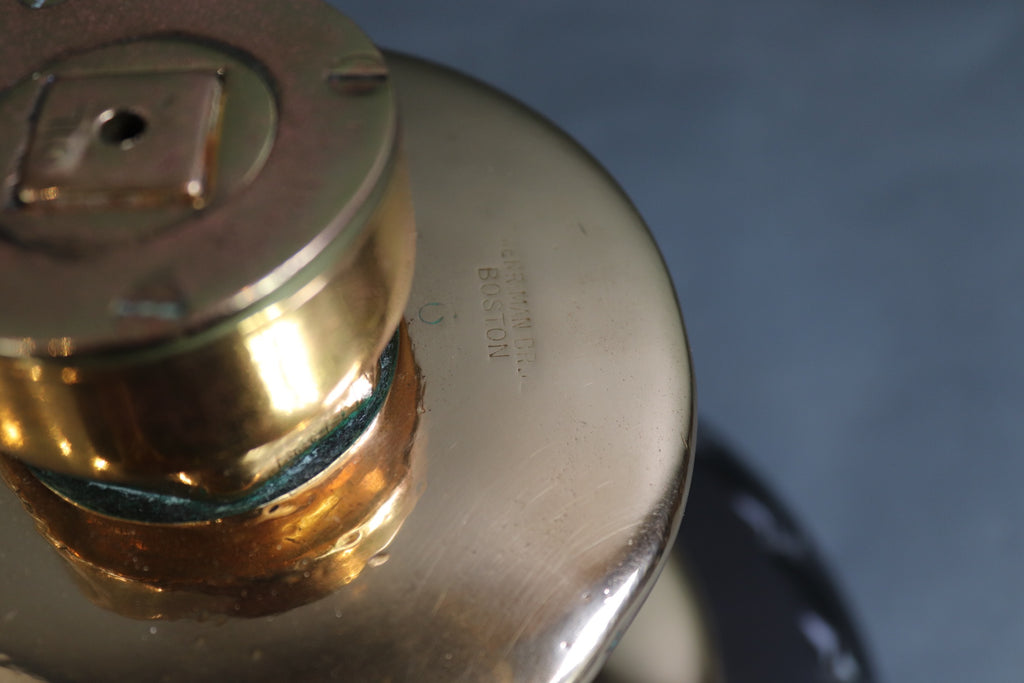 Solid Brass Yacht Winch with Handle