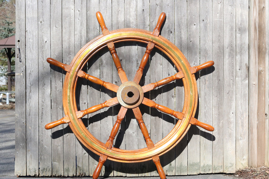 Eight-Spoke Authentic Ship's Wheel