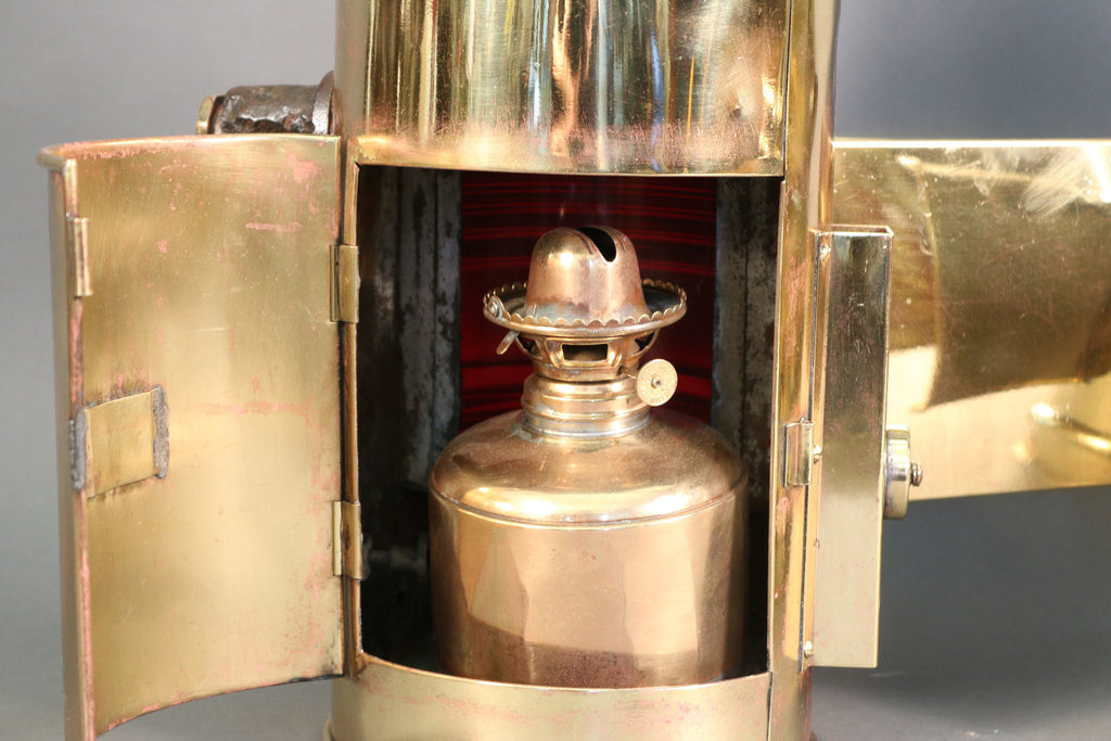 Perko Brass Port & Starboard Lanterns with Shrouds