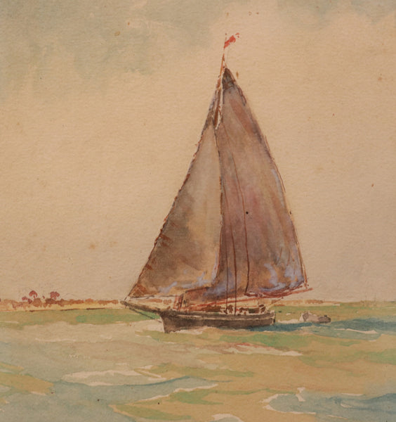 Watercolor of a Sloop