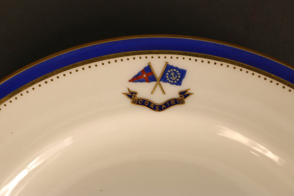 Side Plate with Commodore Flag & Corsair Banner