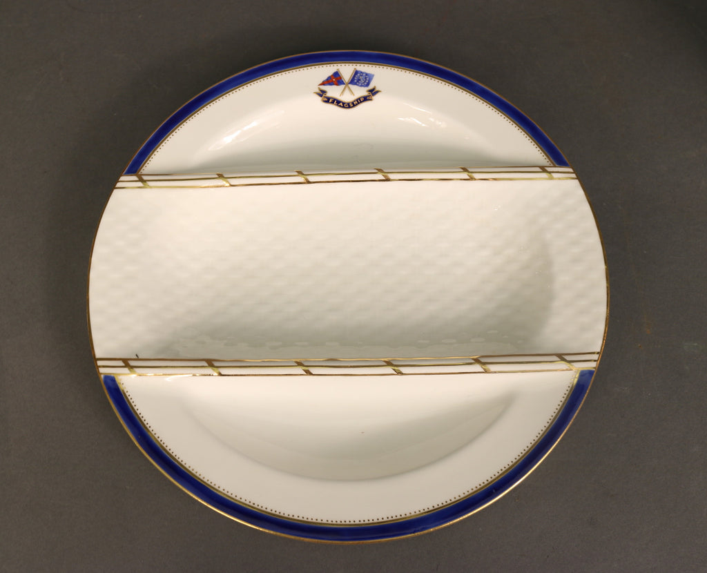 "Unique Asparagus Dish | Minton | J.P. Morgan's Flagship ""Corsair"" 
