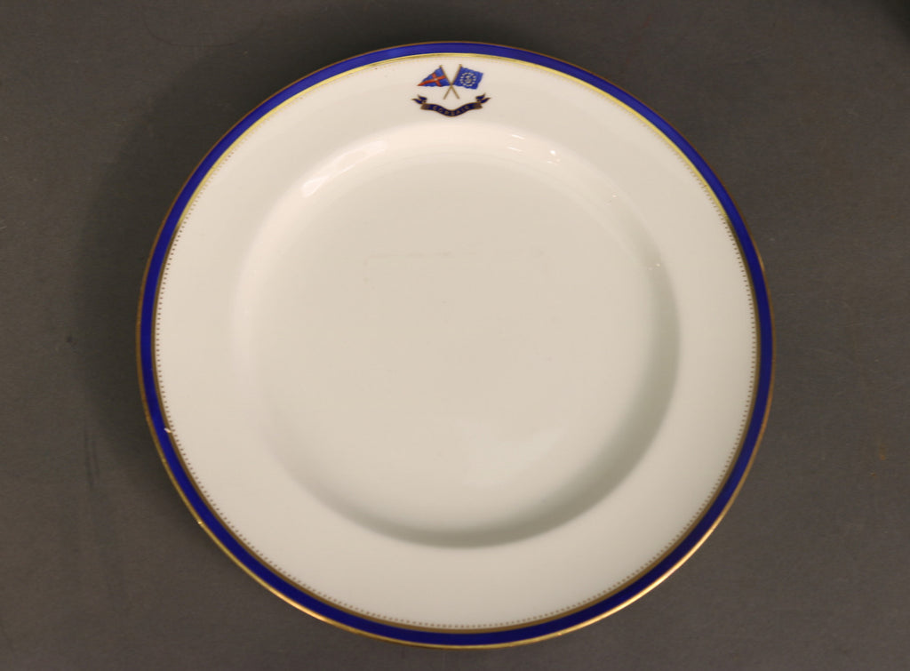 Minton's Dinner Plate | New York Yacht Club | J.P. Morgan's Commodore Ensign | 1898
