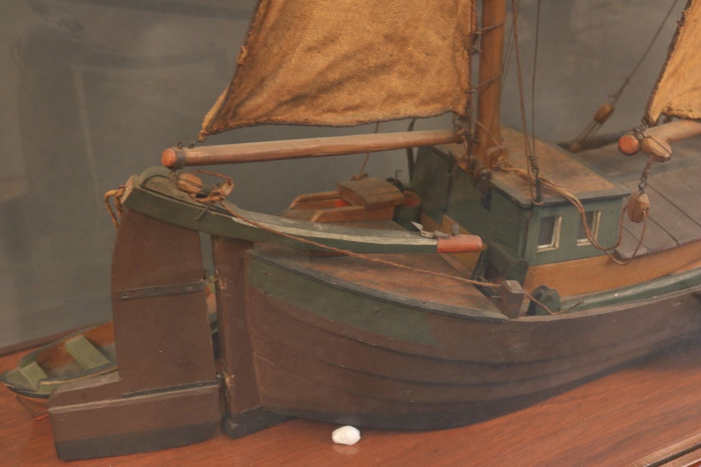Cased Ship Model of a Dutch Work Boat