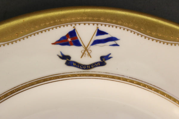 "Dinner Plate from the ""Wacondah"""