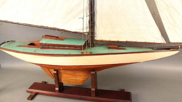 Gaff Rigged Pond Yacht Of A Sloop Lannan Gallery