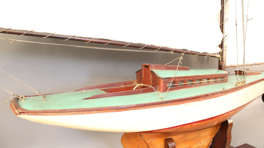Gaff Rigged Pond Yacht of a Sloop