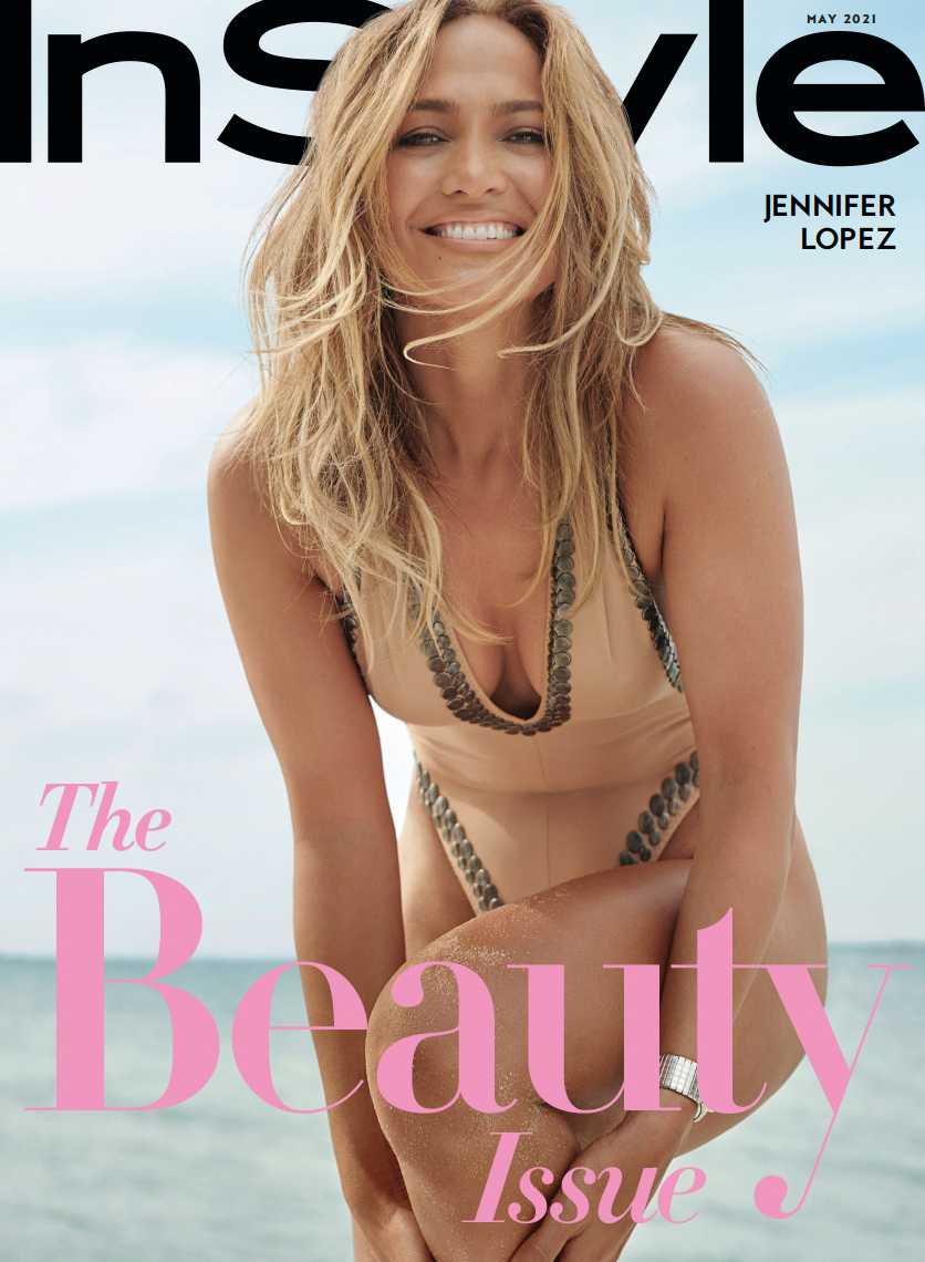 InStyle May 2021 Cover featuring Jennifer Lopez for their The Beauty Issue