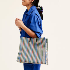 Garden Stripe Simple Tote