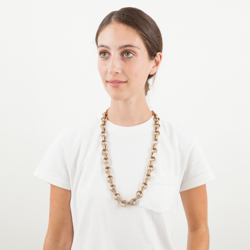 Annie Costello Brown - Long Simple Heavy Chain Necklace
