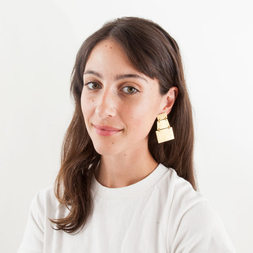 Annie Costello Brown Stak Earrings