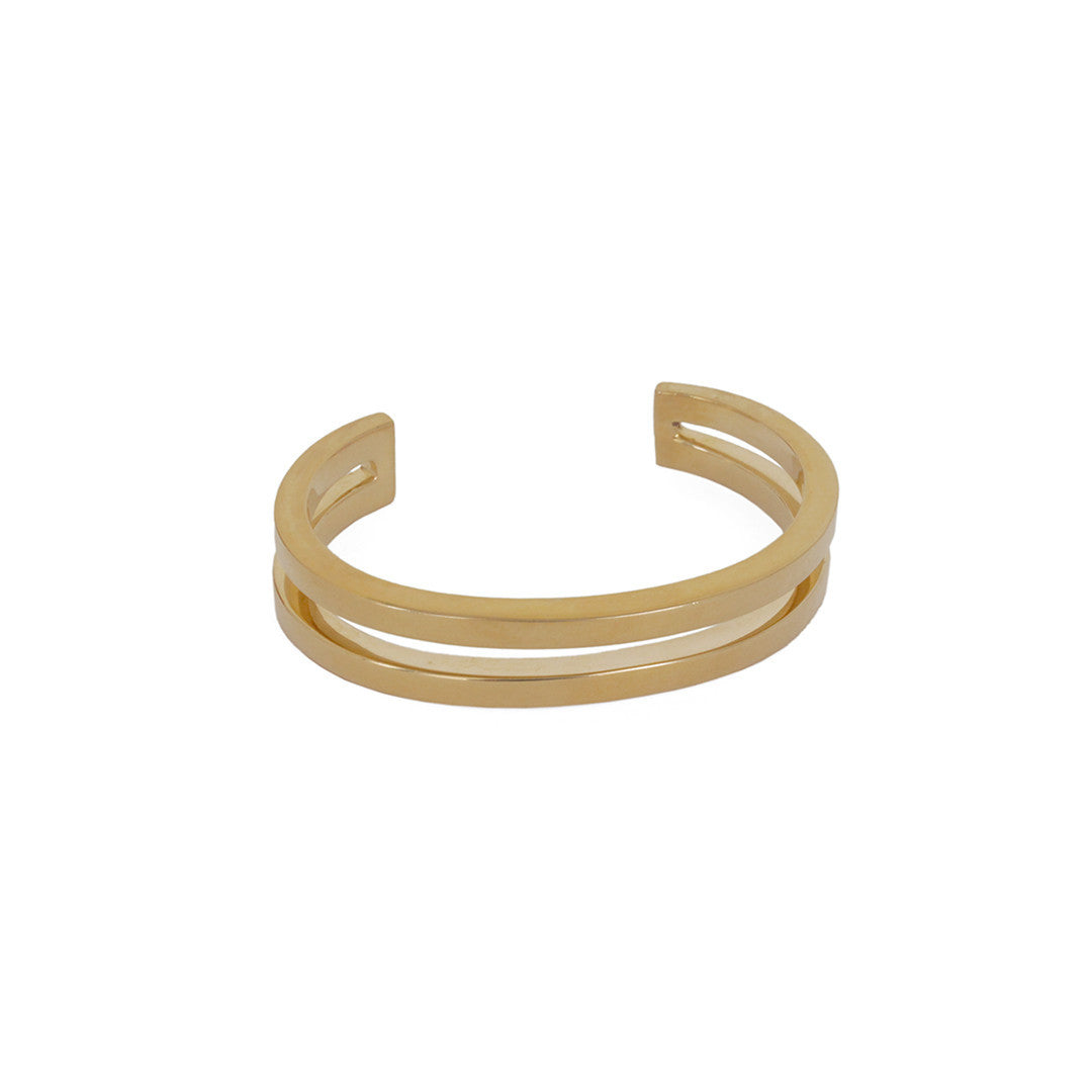 Annie Costello Brown Ames Double Bar Cuff