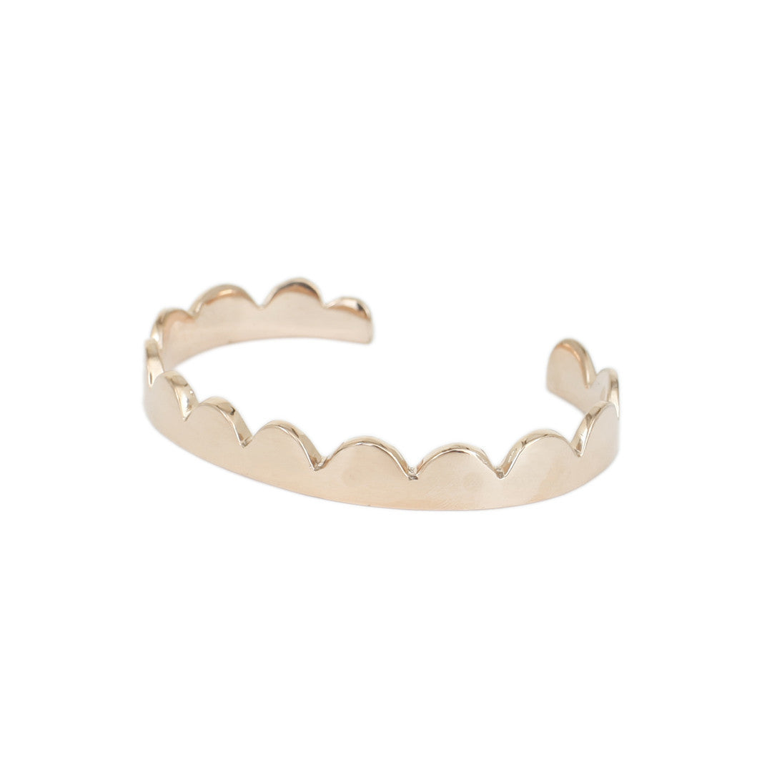 Annie Costello Brown Simple Scallop Cuff