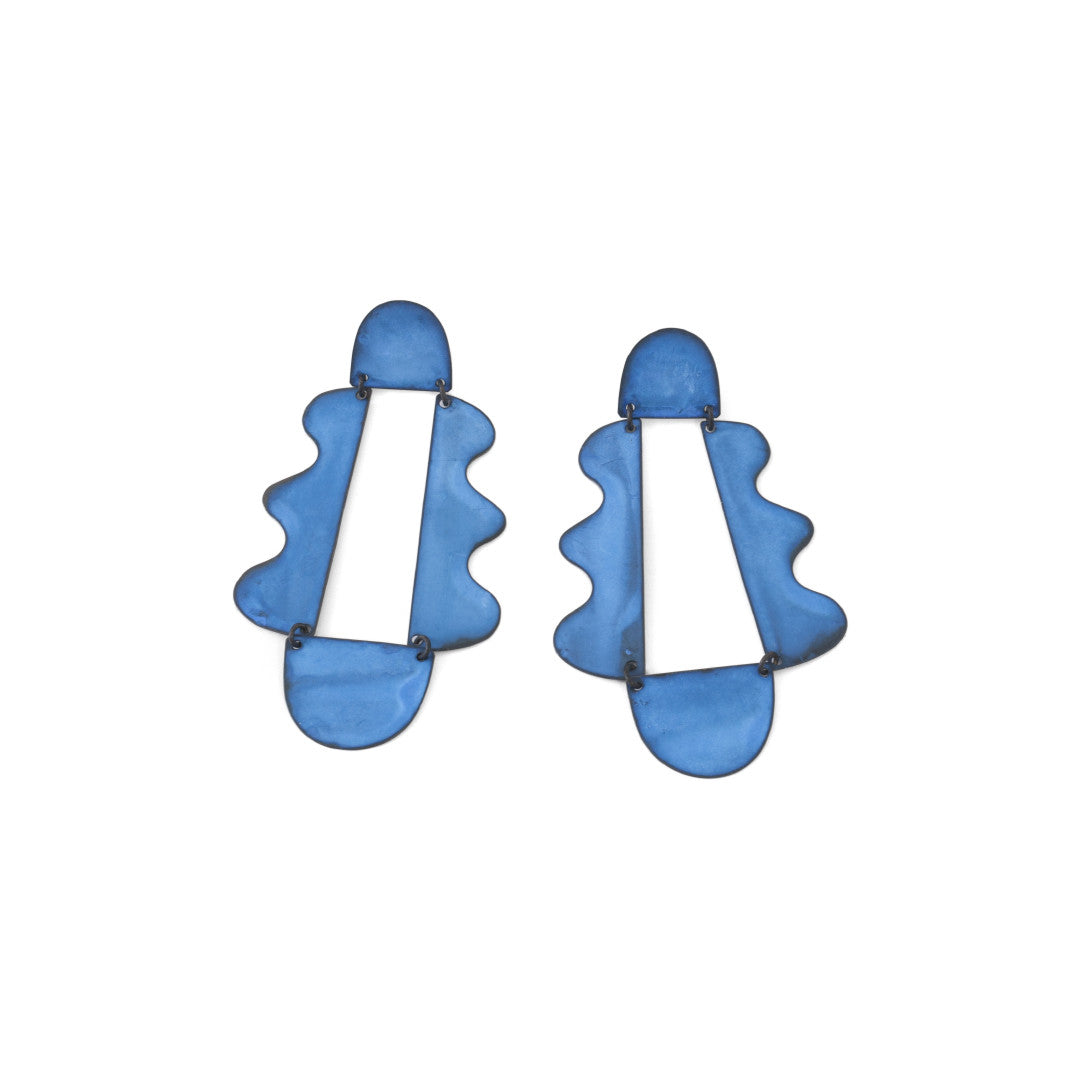 Annie Costello Brown - Matisse Earrings - Oxide Blue
