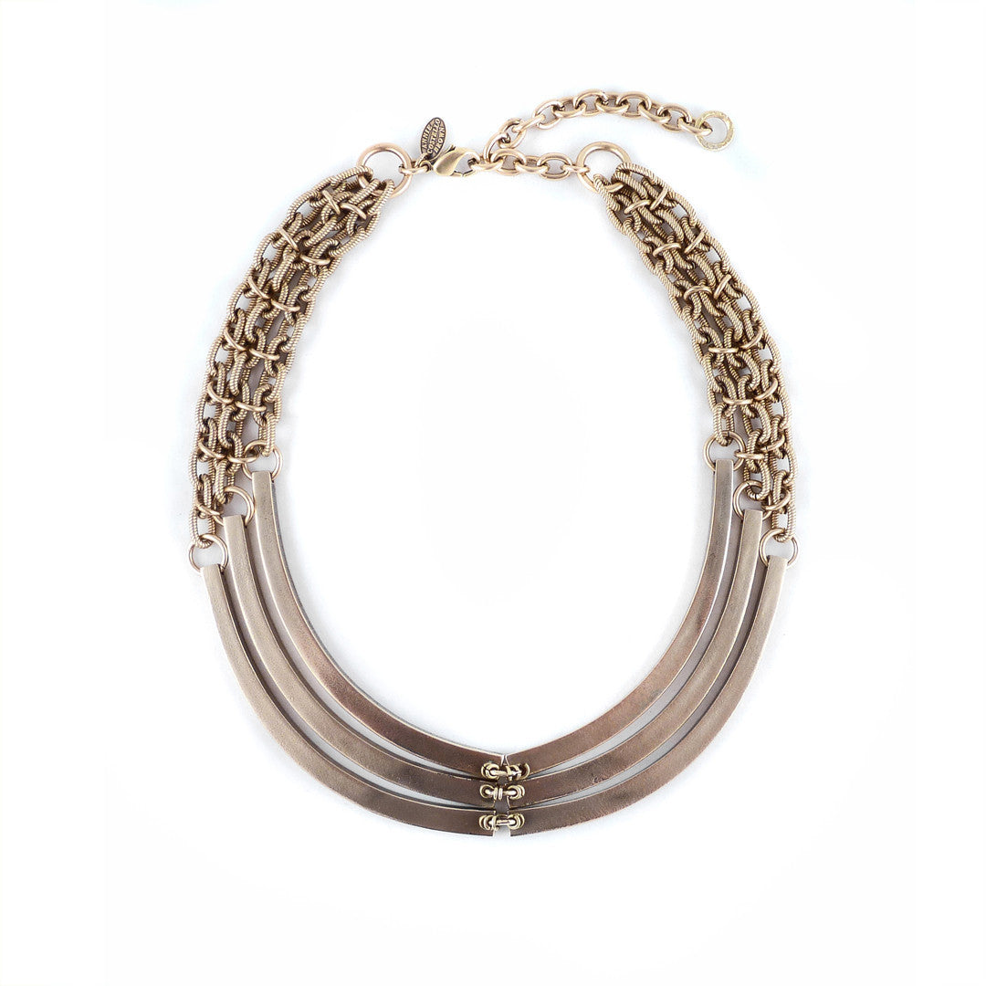 Annie Costello Brown Rib Necklace