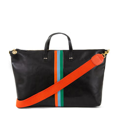 Black w/Stripes Attaché with Red Shoulder Strap