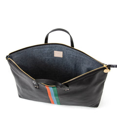 Black w/Stripes Attaché - Interior