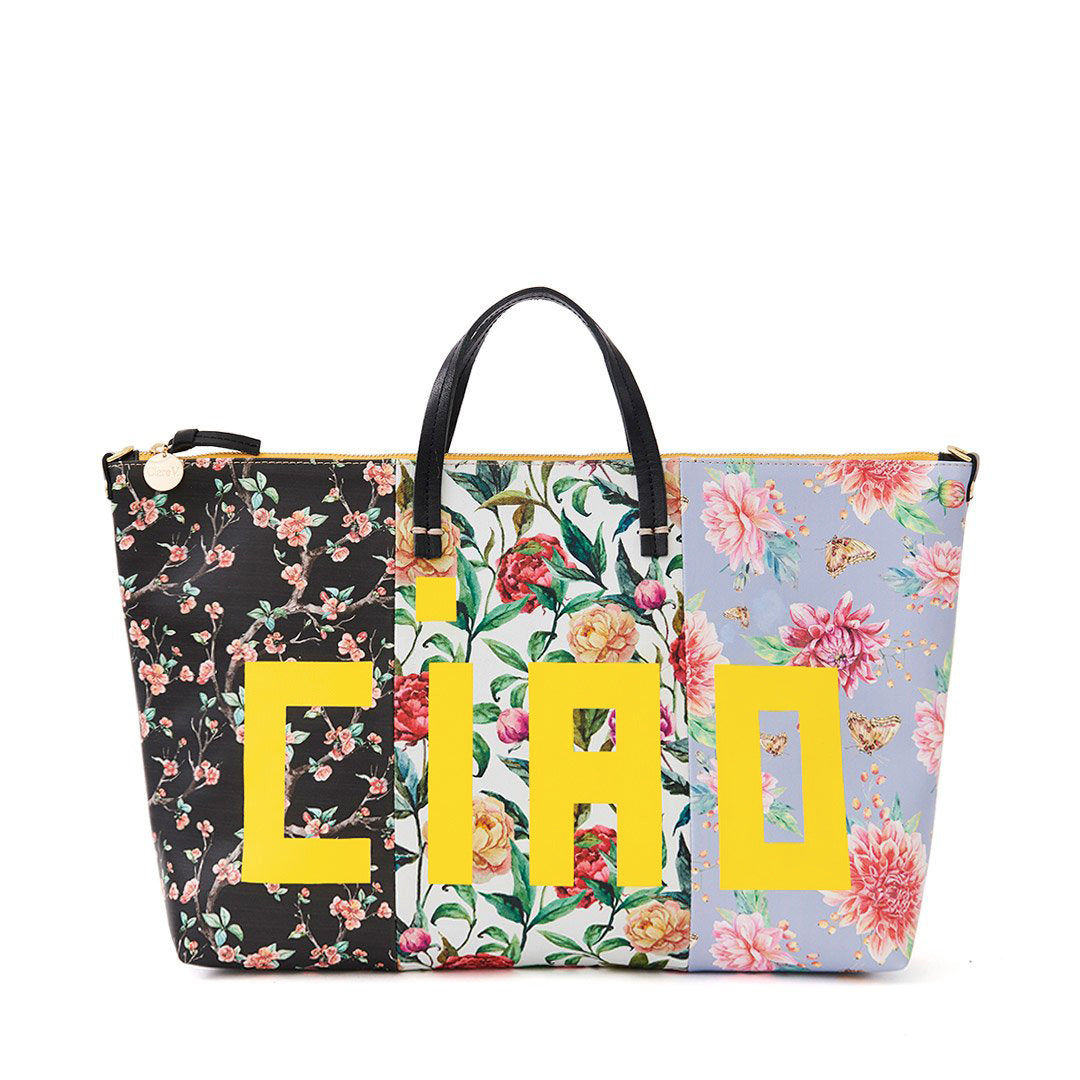 Patchwork Floral Attache - Front