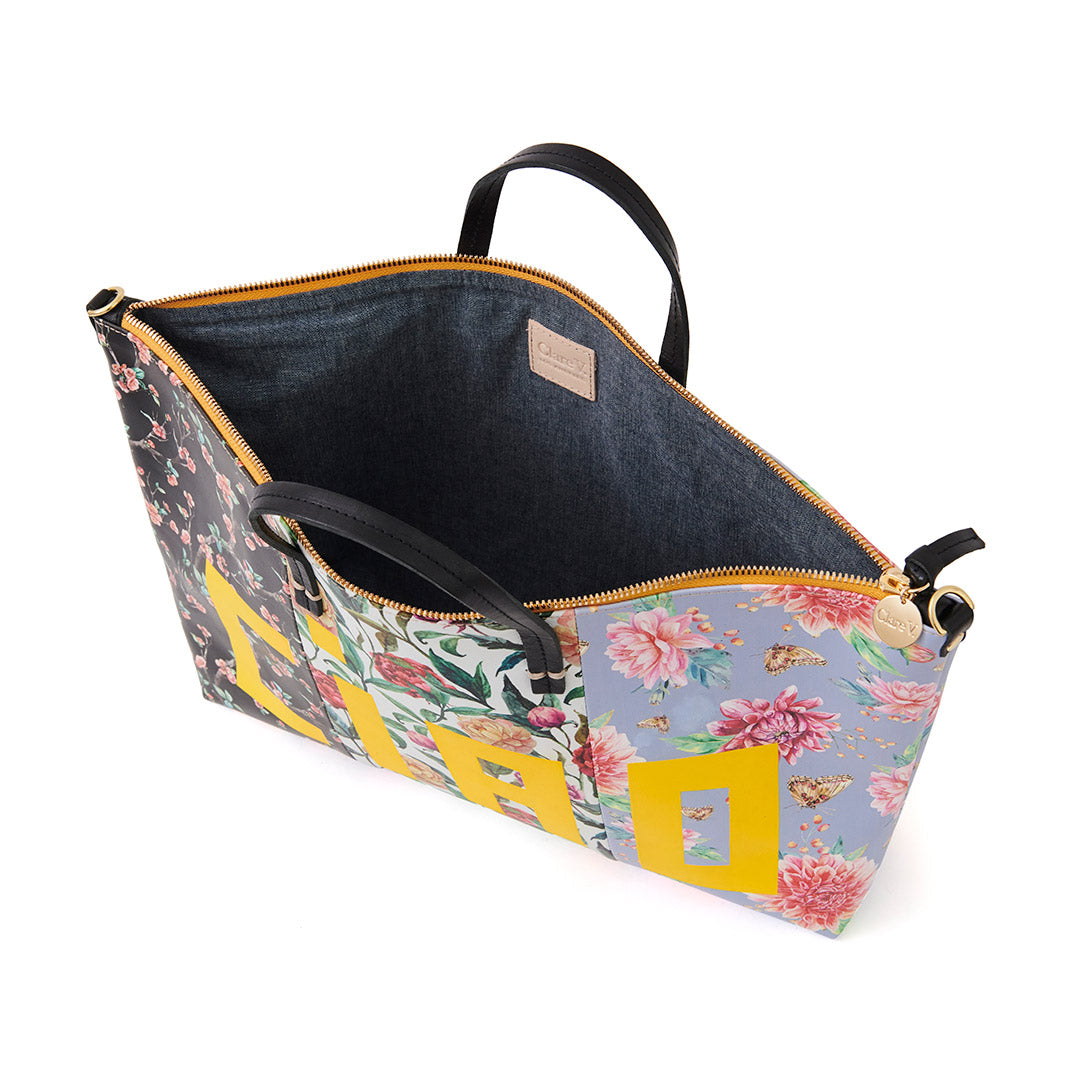 Patchwork Floral Attache - Interior