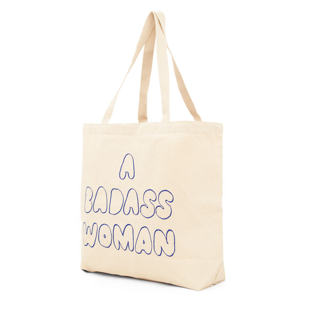A Badass Woman Tote (back)