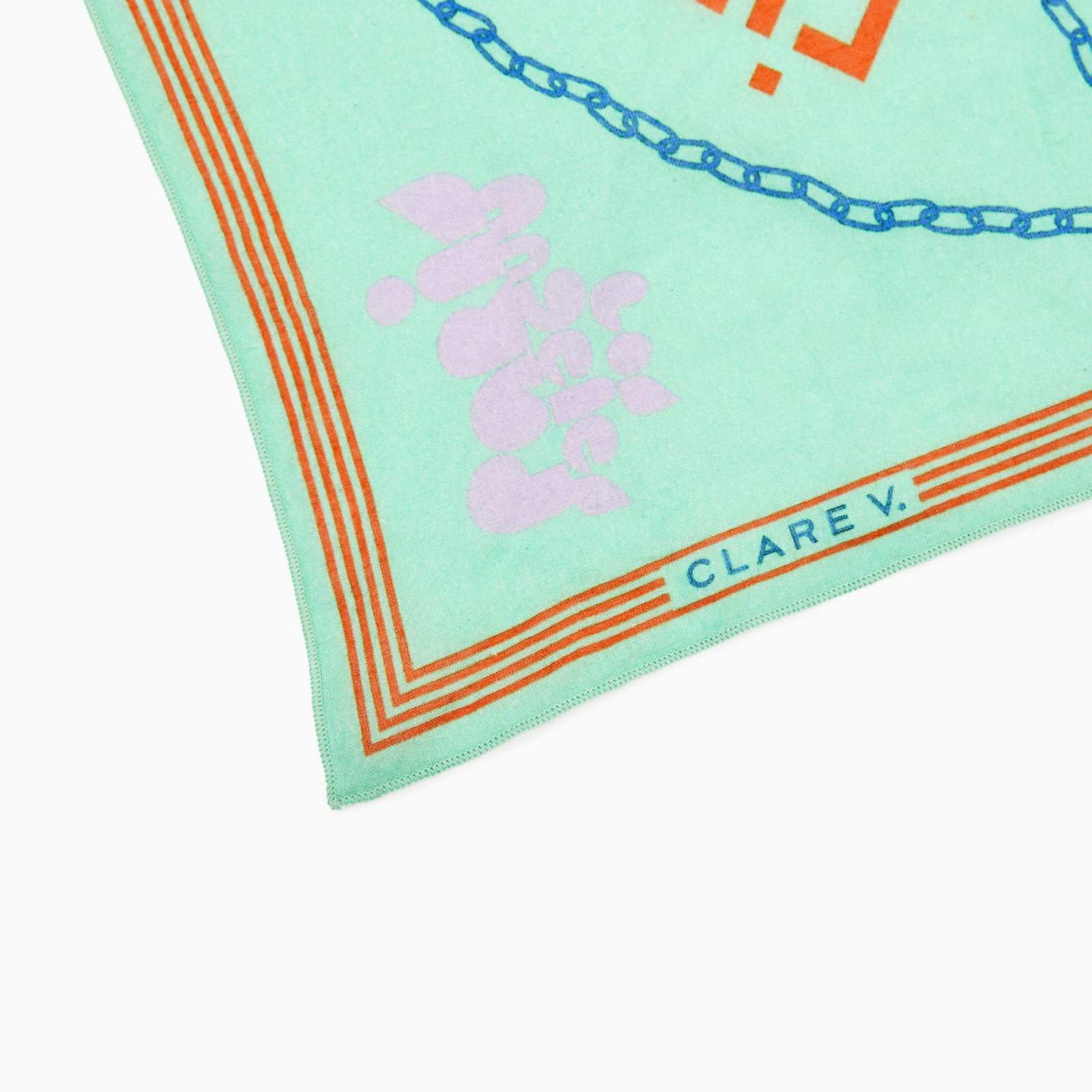 Mint & Opal Icon Print Bandana - Detail