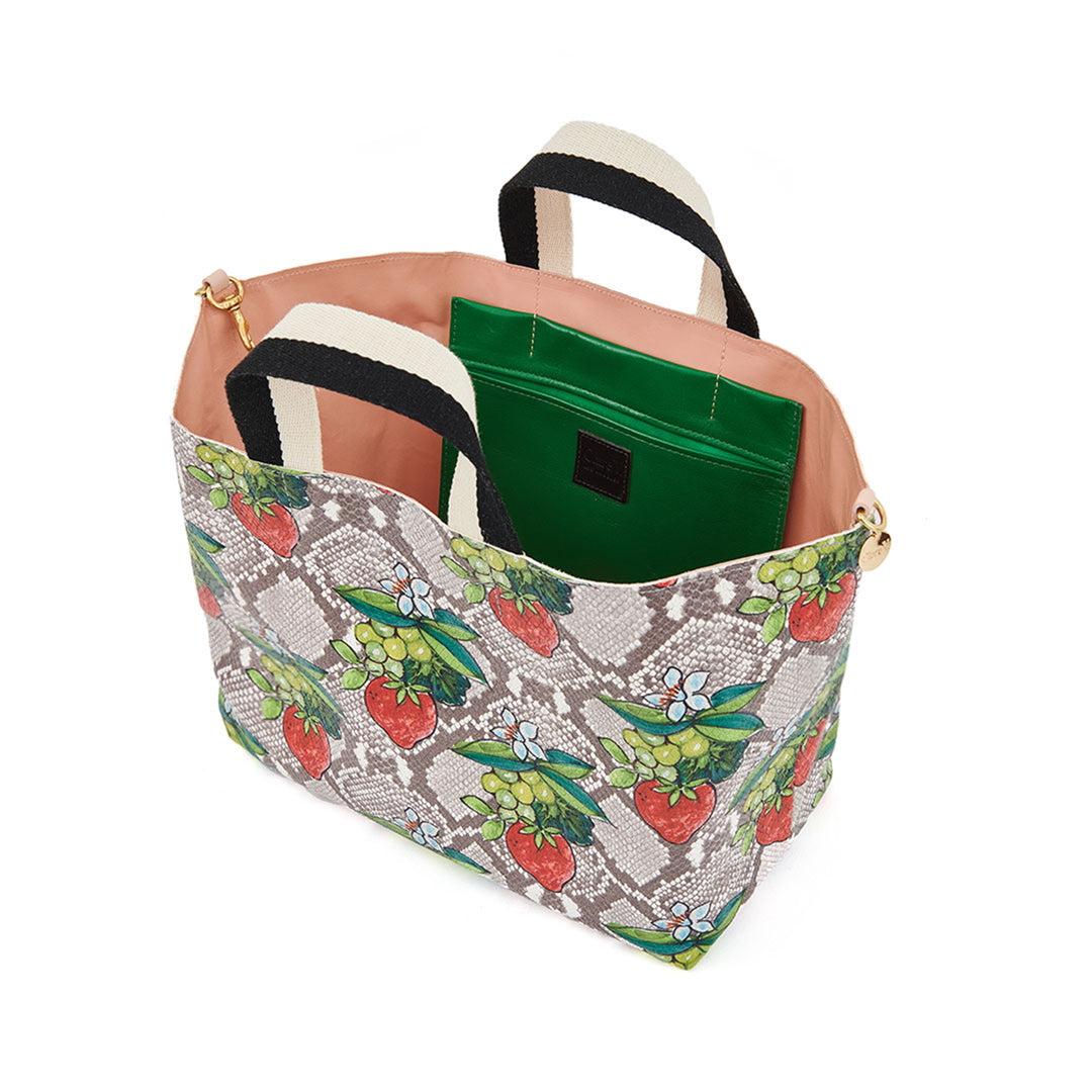 Strawberry Snake Bateau Tote