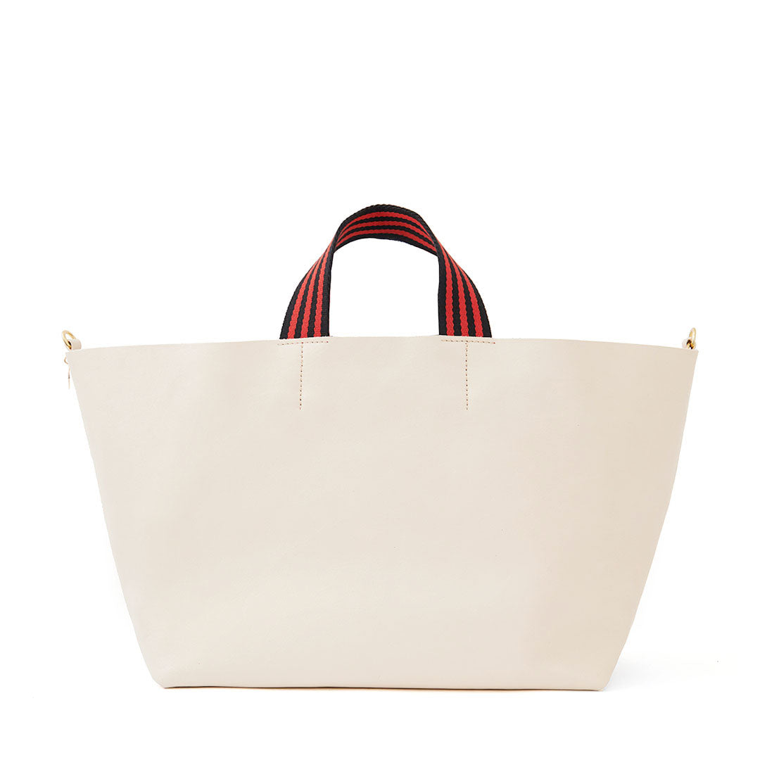 White Rustic Bateau Tote - Front