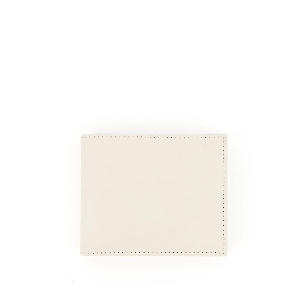 White Rustic Billfold Wallet