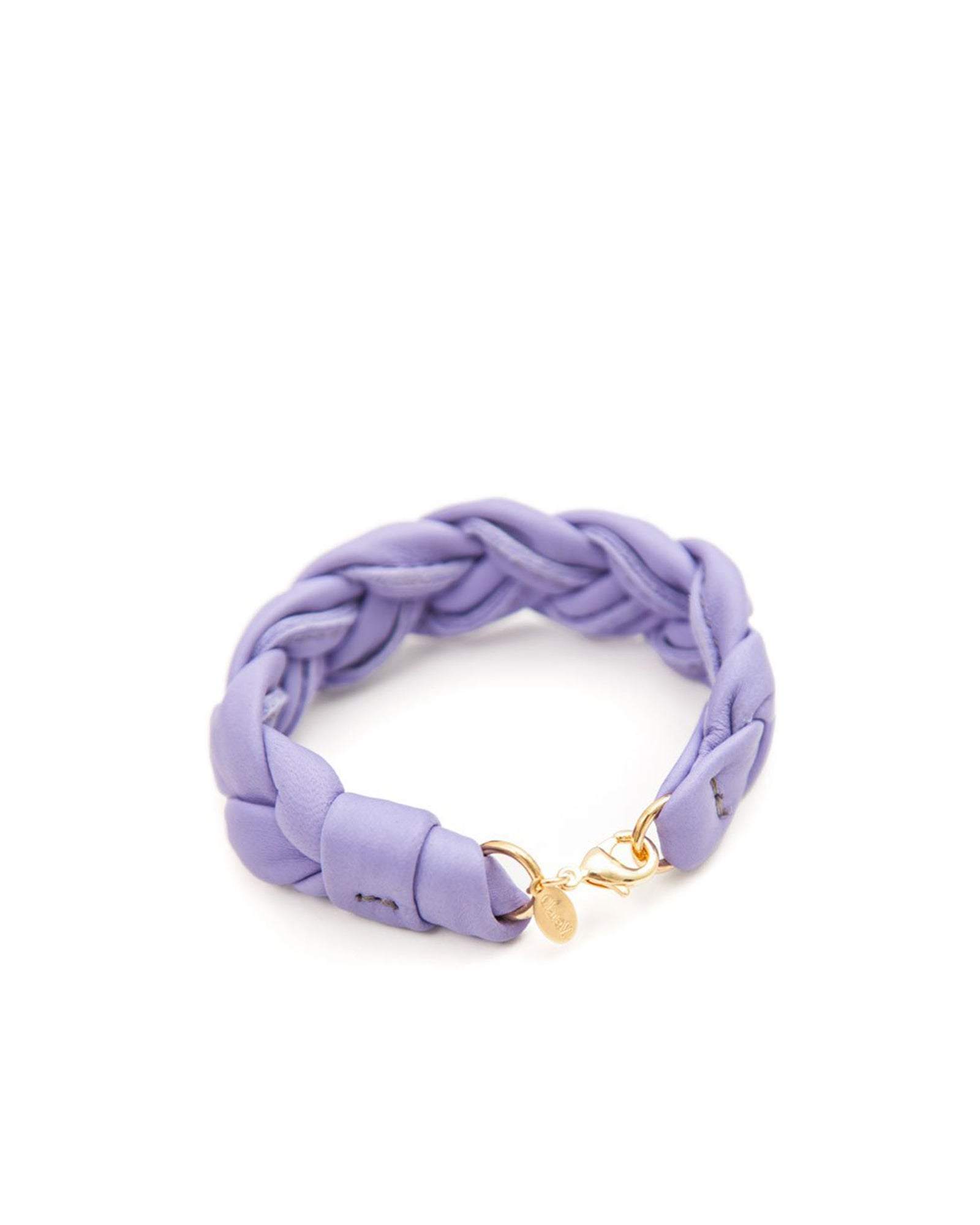 Violet Italian Nappa Braided Leather Bracelet