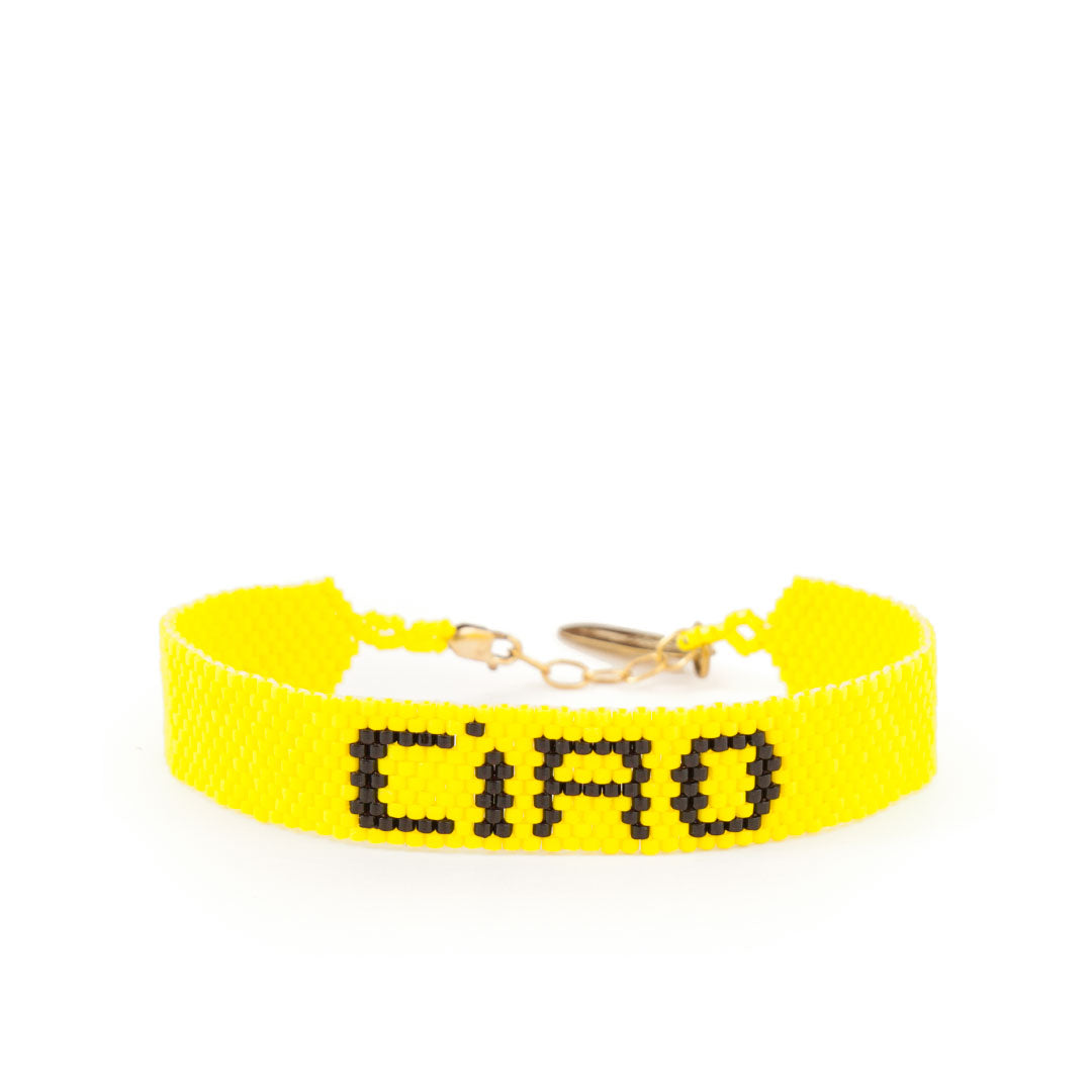 Ciao Yellow Beaded Bracelet by Bunny Shapiro