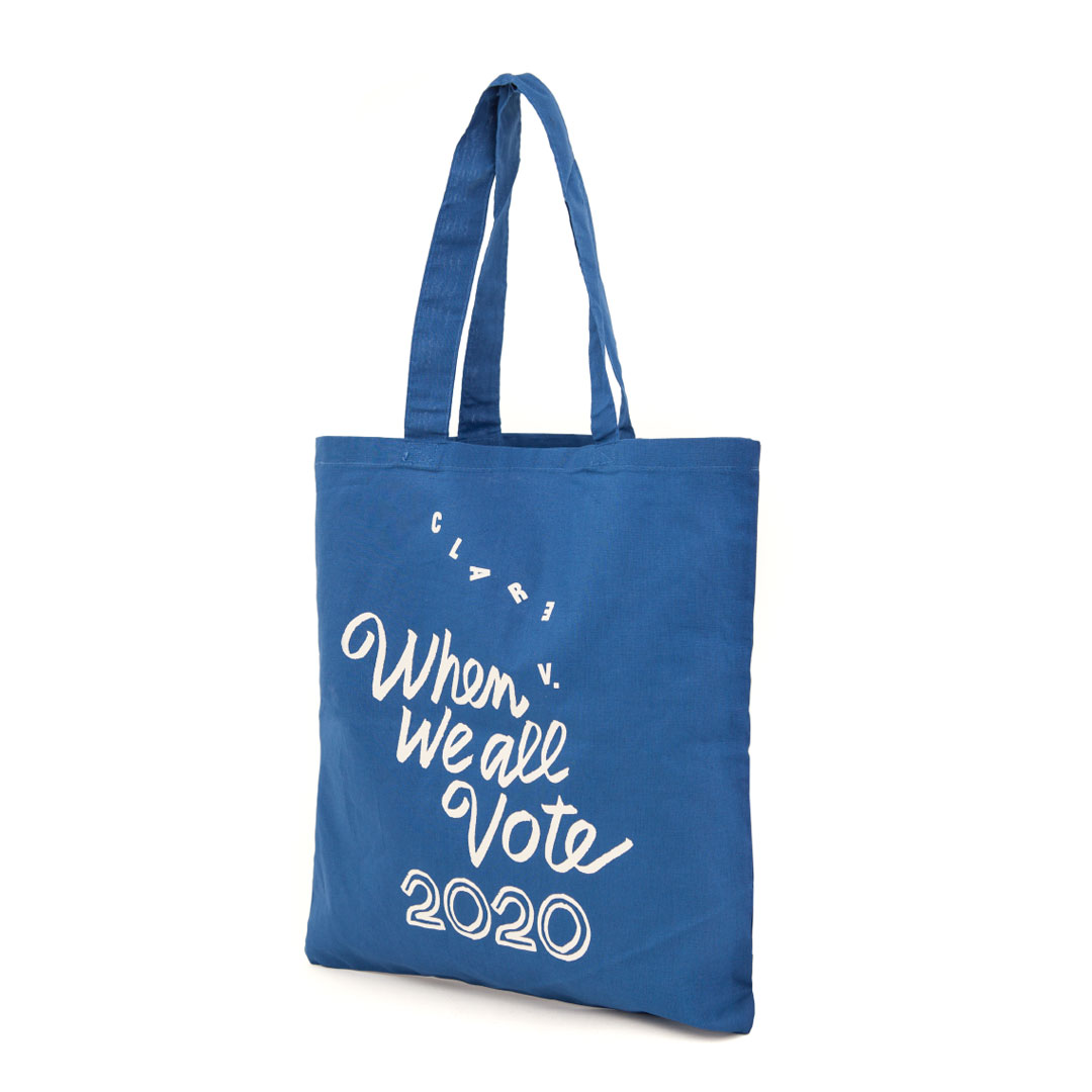 CV x When We All Vote Canvas Tote - Back