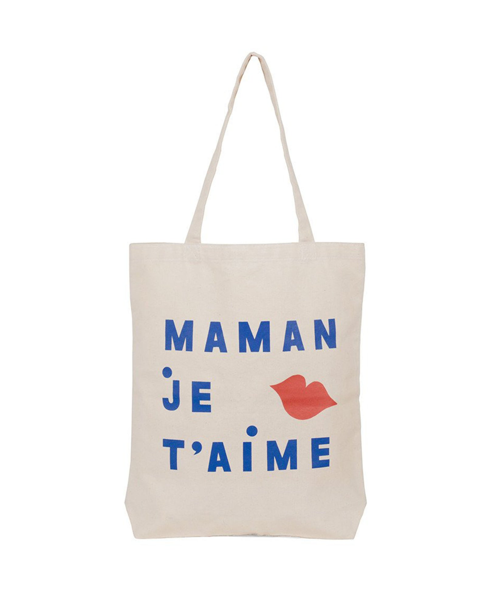 Maman Je T'aime Every Mother Counts Canvas Tote - Front