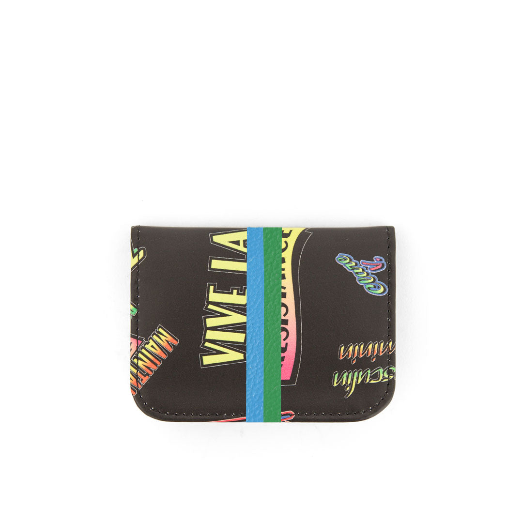 Clare V. x The Hundreds Card Case with Hand-Painted Stripes