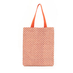 Sienna and Cream Handwoven Zig Zag Carryall