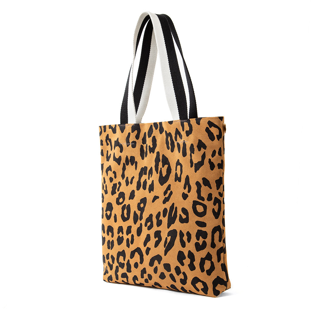 Tan Pablo Cat Suede Carryall - Back