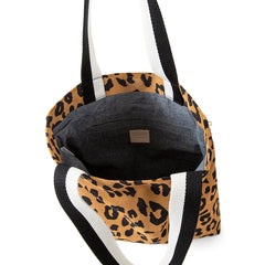 Tan Pablo Cat Suede Carryall - Interior