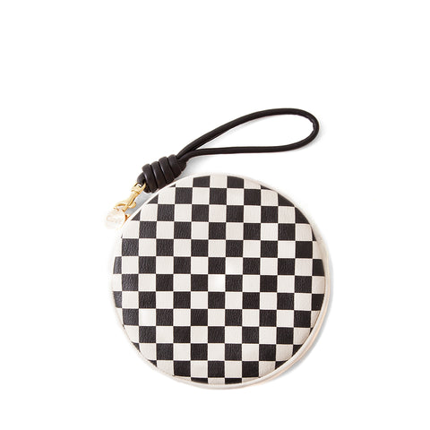 Circle Wallet Clutch with Wristlet